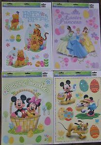NEW Disney Easter window Clings - Princesses Mickey Minnie Pooh