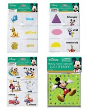 Mickey Mouse Matching Self Correcting Puzzles Shapes Opposites Lacing & Colors