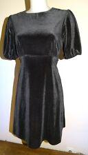 robe T40 neuve velours noir habillée droite à manches longues soirée 949&