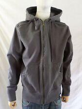 AMERICAN GIANT excellent gray heavy 100% cotton zip hoodie sweatshirt LARGE