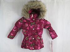 Catherine Malandrino Pink Print Bubble Jacket Coat Parka Hooded 3T $80