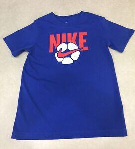 NIKE Kid's Red/White/Blue Short Sleeve Tee Shirt~~Size M