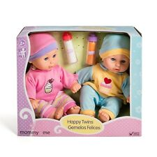 """Baby Doll Twins Boy Girl Kids Toddler Pretend Play Toy Gift Set 12"""" Bottles New"""