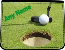 Pelota De Golf Personalizado Putter Negro Imitación Cuero hombre cartera cumpleaños regalo de Navidad