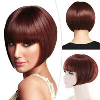Ladies Fancy Dress Wig Pixie Bob Style Full Short Synthetic Hair Party Cosplay