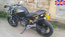 Ducati Monster M696 09+ Demon Slash Satin Black Round XLS Exhausts