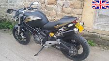Ducati Monster m696 09 + Demonio Slash satén Redonda Negra Xls Escapes