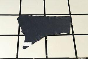 """Coat of Arms"" Deep Blue Quality Scrap Leather Hide Approx. 2 sqft. L11M29-7"