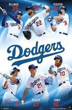 LOS ANGELES DODGERS 2019 POSTER - Beuhler, Kershaw, Seager, Turner, Bellinger +