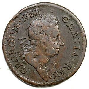 1722 2.2-C.1 R-4 Rosa Americana Penny Colonial Copper Coin