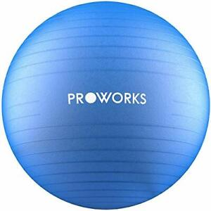 BLUE Anti-Burst Fitness Ball 65cm with Pump Exercise Yoga Swimming Stability PRO