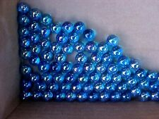 CLEAR GLASS MARBLES> 4 POUNDS 9/16 INCH +or- AZURE  LUSTER FINISH $13.99 POSTPD