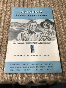 Rainbow Spray Irrigation - Instruction Booklet 1955 - Pyrmont and Pitt St Sydney
