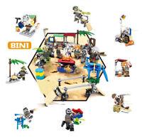 Bausteine Toys Baukästen Military Survival Szene Modell Spielzeug 8PCS 8 In 1