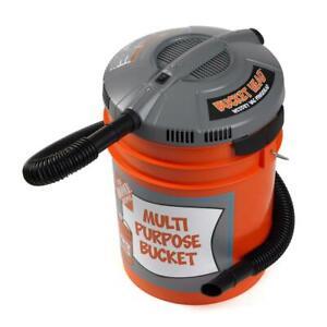 Bucket Head 5 Gal Wet Dry Vac Portable Pro Industrial Vacuum Cleaner 1.75 HP NEW