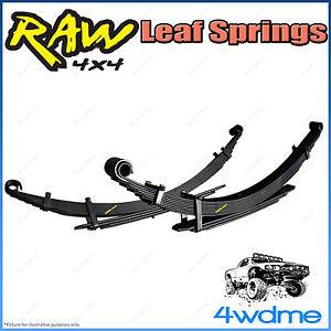 """Isuzu Dmax 2012 on 4WD RAW Rear Leaf Springs Heavy Load 250-400kg 2"""" 40mm Lift"""