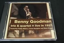 BENNY GOODMAN - Benny Goodman Trio & Quartet - Live in 1937 - CD LIKE NEW