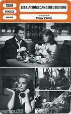 Movie Card Fiche Cinéma. Les liaisons dangereuses 1960 (France) 1959 Roger Vadim