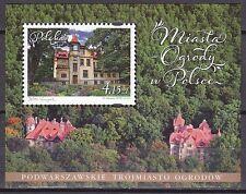 POLAND 2012 **MNH SC#  S/S  Towns - Gardens in Poland