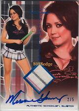 2011 BENCHWARMER SCHOOL GIRL SWATCH AUTO: MIRIAM GONZALEZ #2/5 AUTOGRAPH PLAYBOY