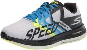 Skechers Unisex Go Run Razor 3 Running Shoe, Black/Green, Men's 9.5, Women's 11