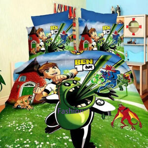Ben 10 Single Size Bed Quilt Doona Duvet Cover Set Bedding Pillow Case