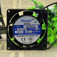 MAXAIR BT8025B2HL Cooling Fan AC 220V 0.7W 80mm x 80mm x 25mm