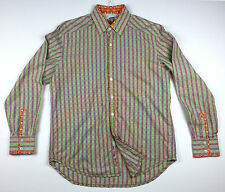 ROBERT GRAHAM Men's Button Front Long Sleeve Casual Shirt Size L Large