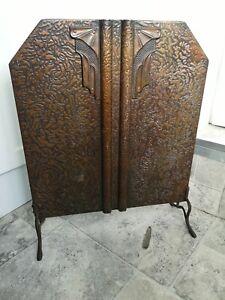 Art Nouveau Copper fire screen