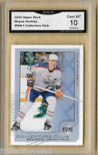 2002 UPPER DECK COLLECTORS CLUB WAYNE GRETZKY NHL1 CARD GMA 10 Gem Mt