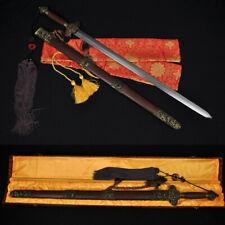 HIGH QUALITY HAND MADE CHINESE SWORD JIAN (剑) FOLDED STEEL BLADE NICE MOUNTINGS