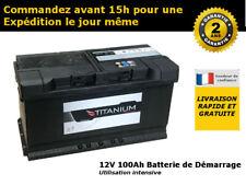 019 12V 100Ah Titanium Batterie de Démarrage Voiture 354 x 174 x 190mm