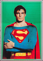 SUPERMAN MOVIE POSTER 1978 Green Mylar C.Print 21x30 Style A CHRISTOPHER REEVES