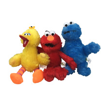 Set of 3: Brand New 10'' Sesame Street Plush Elmo Big Bird Cookie Monster Soft!