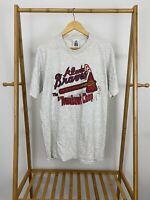 VTG 90s Atlanta Braves Tomahawk Chop MLB Short Sleeve Lee T-Shirt Size L