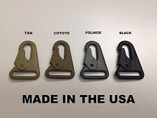 """USA MADE HK H&K Clip 1"""" Style Sling Clip Snap Hook Quick Release 4 Colors"""