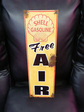 Antique style-porcelain look Shell dealer gas station pump sign free air