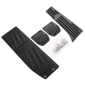 For BMW X1 E30 E36 E46 E90 E87 E93 Car Aluminum Footrest Rest Pedals Pad Set