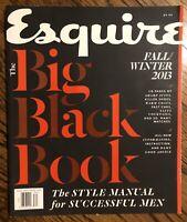 ESQUIRE MAGAZINE THE BIG BLACK BOOK FALL/WINTER 2013