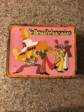 Vintage 1968 Beatles Yellow Submarine Metal Lunch Box NO THERMOS See Pictures.