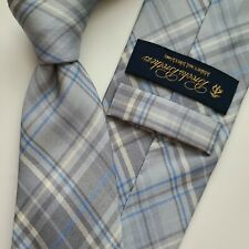 A14) BROOKS BROTHERS PLAIDS AND CHECKS 100% SILK NECKTIE MADE IN USA