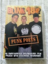 BLINK 182- PUNK POETS - DVD, REGION-ALL, LIKE NEW, FREE POST IN AUSTRALIA