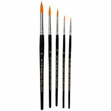 Gold Line Pinsel Rundpinsel Set 5 Stück Größe 1, 4, 8, 12 und 18
