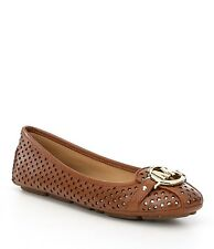 MICHAEL Michael Kors Fulton Moc-Lasered Star Perforated-Brown Sz. 8 M  NIB
