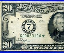*Crazy Rare 1928 $20 FRN (( STAR )) ** Chicago STAR ** G00059120*