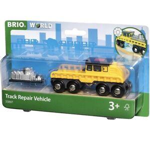 BRIO World Track Repair Vehicle 33897 for Wooden Train Set  NEW FREE UK P&P
