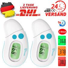 2X Fieberthermometer Infrarot LCD Thermometer Kontaktlos Ohr Stirnthermometer DE