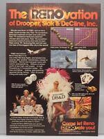 Vintage Magazine Ad Print Design Advertising Reno Nevada