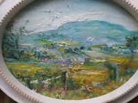 Penhill,'Before the Harvest', Wensleydale. Impressionism.Oil painting, Original.