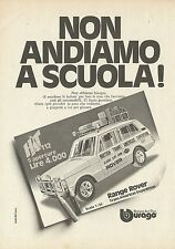 X1270 Range Rover Trans Americas Expedition BBURAGO - Pubblicità 1976 - Advertis